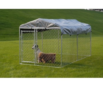 Chain Link Dog Kennel  5' x 10' x 4' for sale
