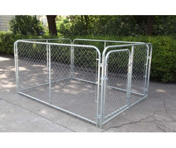 Chain Link Dog Kennel  6'  x 8'  x 4' for sale