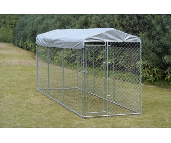 Chain Link Dog Kennel  10' x 10' x 6' for sale