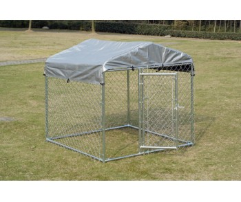 Chain Link Dog Kennel  5'  x 5' x 4' for sale