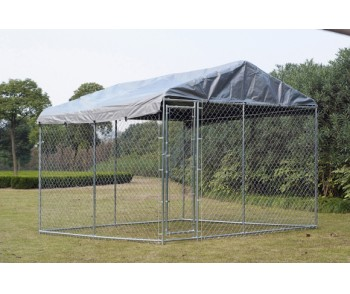 Chain Link Dog Kennel  5' x 15' x 6' for sale