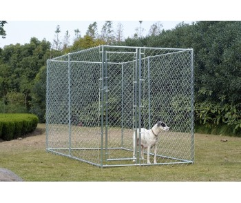 Chain Link Dog Kennel  5' x 10' x 6'