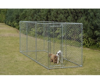 Chain Link Dog Kennel  5' x 15' x 6'