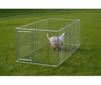 Chain Link Dog Kennel  5' x 10' x 4'