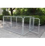 Chain Link Dog Kennel  6'  x 8'  x 4'